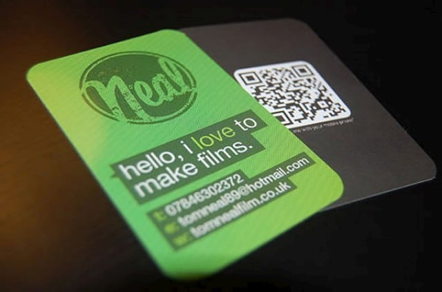 22 great examples of qr code business cards and business for Business cards with qr codes