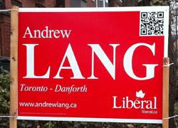 QR Code Political Sign