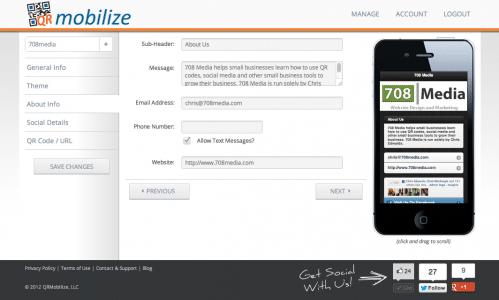 Free Mobile Website Builder